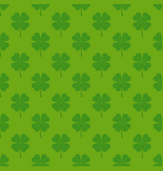 Seamless pattern with four leaf clover vector