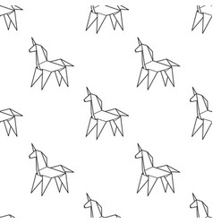 seamless trendy pattern with japanese origami art vector image