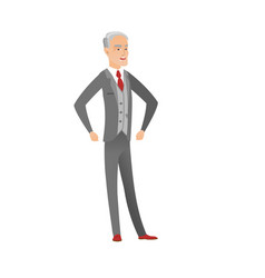 senior caucasian angry businessman screaming vector image