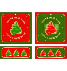 set christmas tags vector image