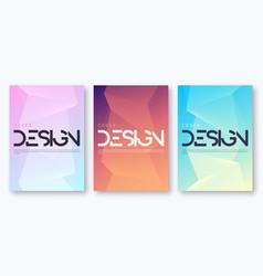 set minimalist gradient geometric cover design vector image