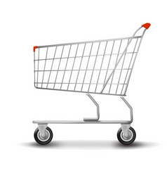 Shopping cart isolated on white background flat vector