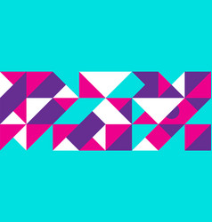 simple banner square modules vector image