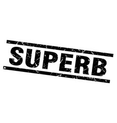 square grunge black superb stamp vector image