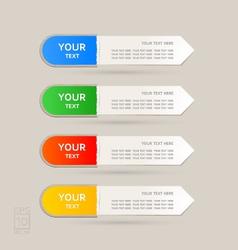 Sticker Label color set vector image vector image