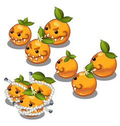 trapped fancy monsters in the form of a scary vector image