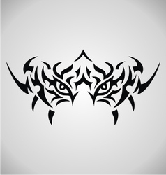 Tribal Tiger Eyes vector