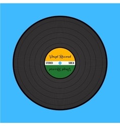 vinyl record on blue background vector image