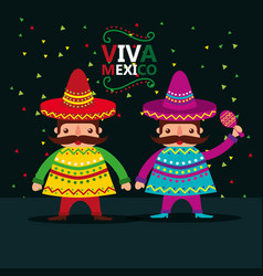 Viva mexico celebration vector
