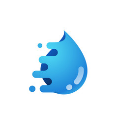 water drop logo water delivery service vector image