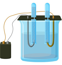 water electrolysis process vector image
