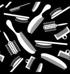White plastic combs seamless pattern vector