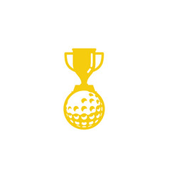 winner golf logo icon design vector image