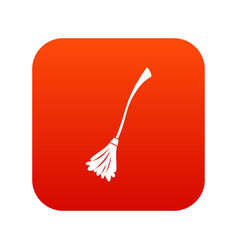 Witches broom icon digital red vector