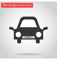 With the shadow Icon gray flat car design vector