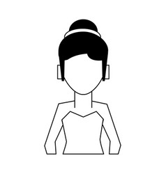 Woman with hair updo avatar icon image vector