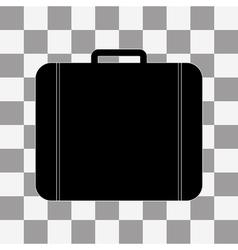 Black Bag Icon on transparent vector image