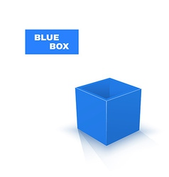 Blue Box isolated on white background vector image vector image