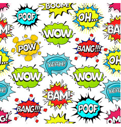 comic speach bubble effect background pattern on a vector image