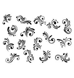 Floral motifs and design elements vector image