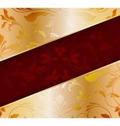 Golden floral background vector image