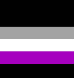 international asexual flag people movement flat vector image vector image