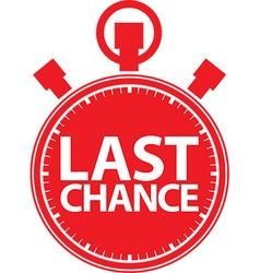 Last chance stopwatch icon vector image vector image