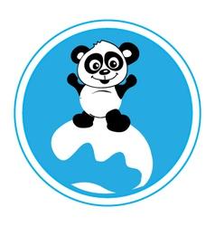 panda-surf-pw vector image