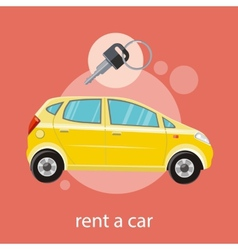 Rent a car vector image vector image