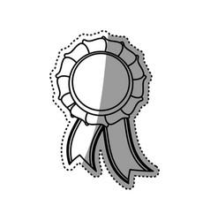 ribbon award symbol vector image