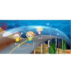 Road underwater vector image