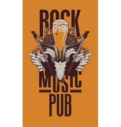 beer pub with live music vector image
