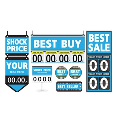 Department Store Signs Set vector image vector image
