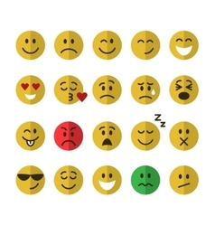 Flat emoticons set vector image vector image