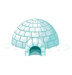Igloo Icy cold home or ice house vector image vector image
