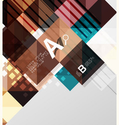 modern square abstract background vector image vector image