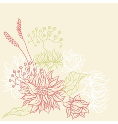Vintage card with flowers background for you vector image