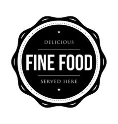 Fine food vintage stamp vector image vector image