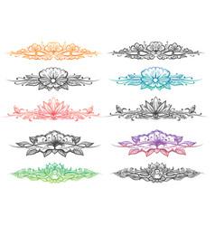 floral divider big set vector image