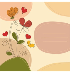 Romantic background with place for text vector image