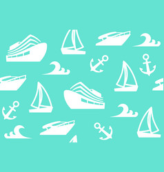 seamless background of a sailing charter vector image