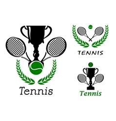 Tennis sporting emblems set vector image vector image
