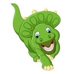 Cute triceratops cartoon vector image