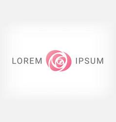 pink rose curve logo design template vector image vector image