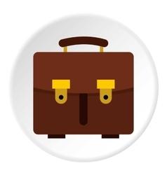 School bag icon flat style vector image