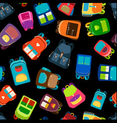 schoolbags seamless pattern vector image vector image