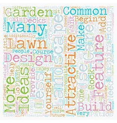 Some Of The Most Common Landscape Design Features vector image vector image