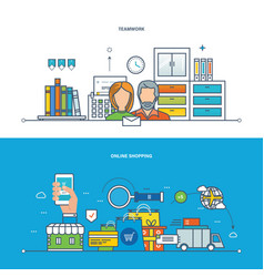 teamwork workplace shopping business finance vector image