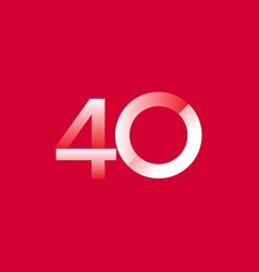 40 years anniversary celebration gradient vector