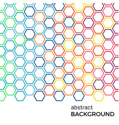 Abstract background with color hexagons elements vector